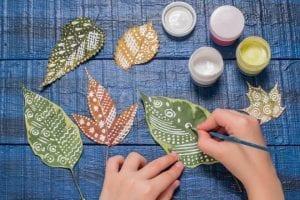 Laboratorio di pittura per bambini autunno
