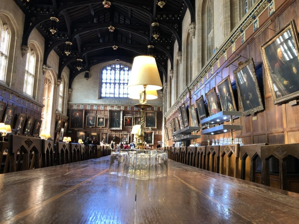 Harry PotteHarry Potter la mensa al Christ Church Oxford