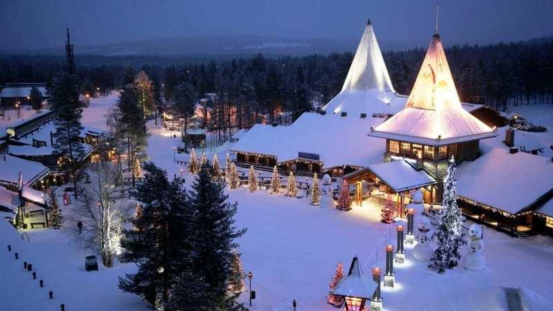 Rovaniemi Lapponia Babbo Natale.Babbo Natale Andiamo A Casa Di Santa Claus In Lapponia
