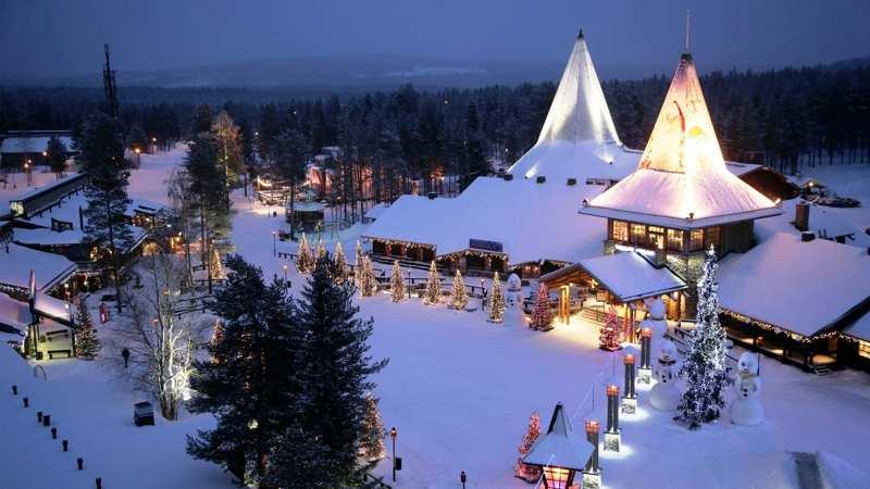 Immagini Natalizie Lapponia.La Casa Di Babbo Natale A Rovaniemi In Lapponia Viaggiapiccoli