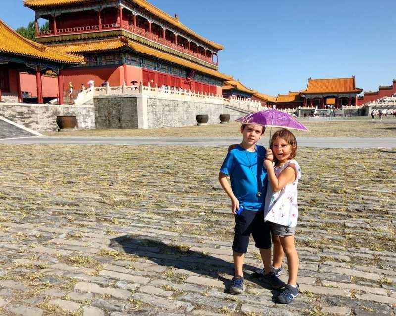 Con i bambini in Cina