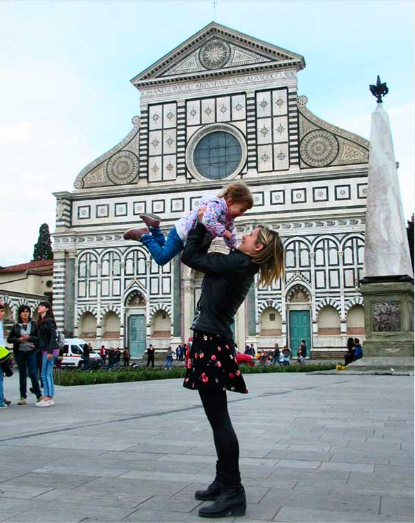 mamma e bambina a Firenze