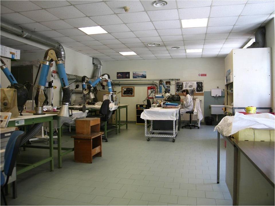 Laboratori restauro al Mann