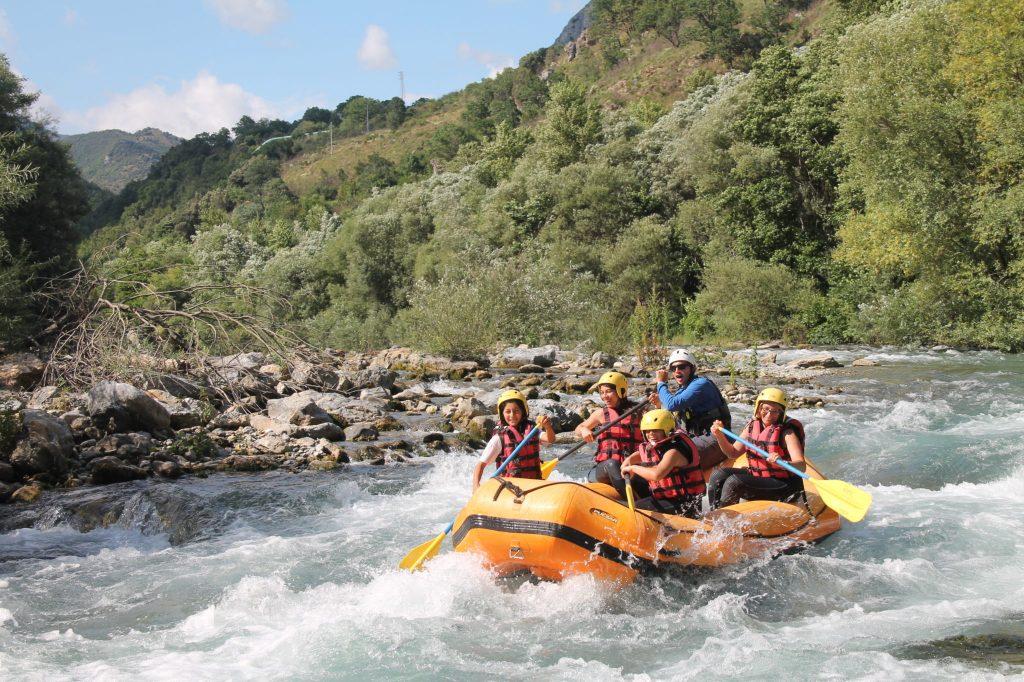 rafting famiglia calabria