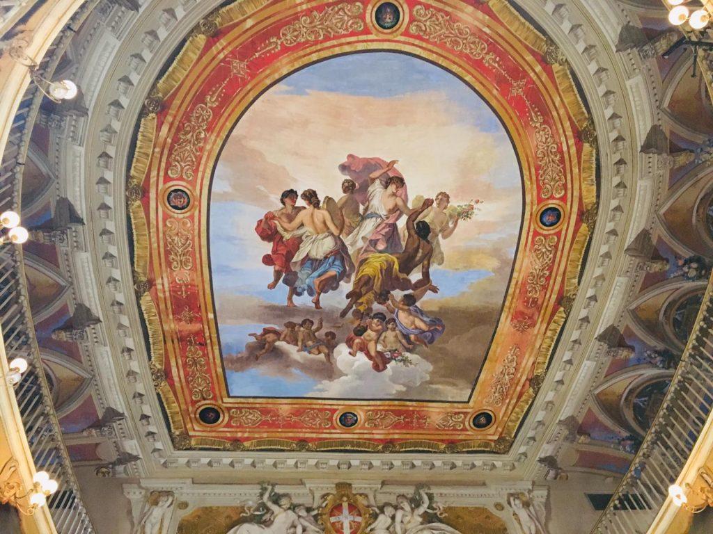 affresco muse teatro Bevagna