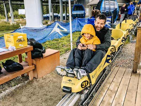 Canada decimo giorno Mountain Coaster a Revelstoke 2