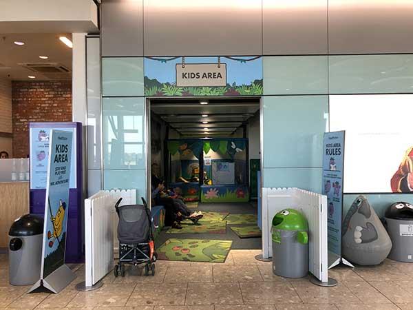 Area bambini a heathrow, terminal 5