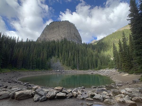 banff lake mirror