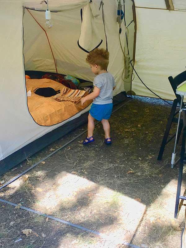 campeggio bambino tenda