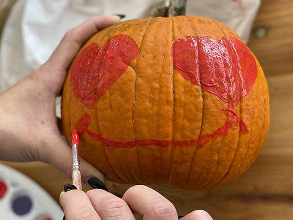 halloween zucca cuore