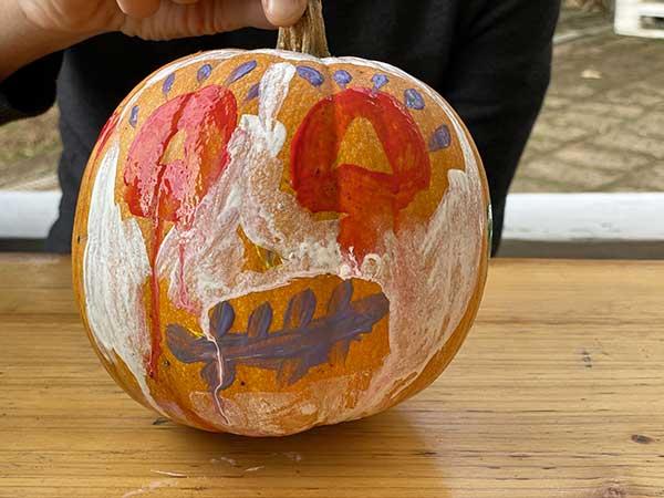 halloween zucca decorata