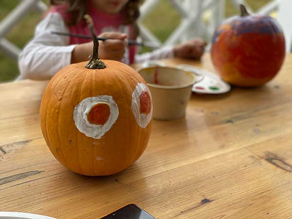 zucche dipinte halloween