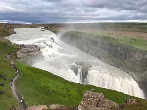 Islanda Gullfoos cascate