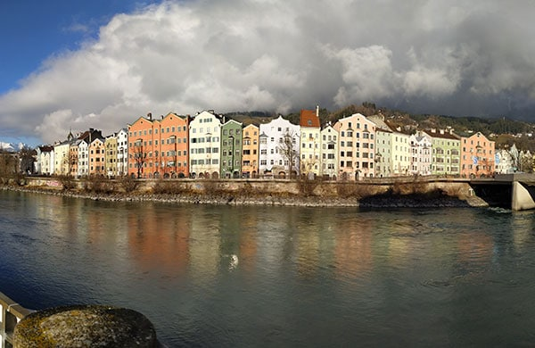 Innsbruck vista dal fiume
