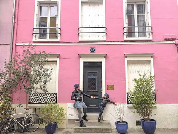 Rue Cremieux casa rosa