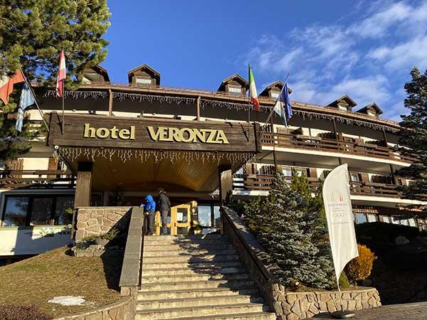 entrata hotel Veronza