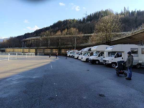 area sosta camper Innsbruck