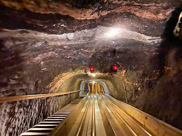 miniere di Sale di Hallein scivoli