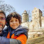 papà e bambino castello di Norimnberga