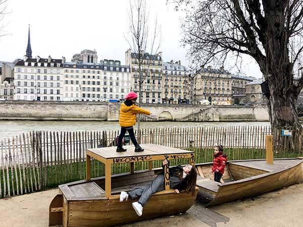 barca di legno giochi bambini