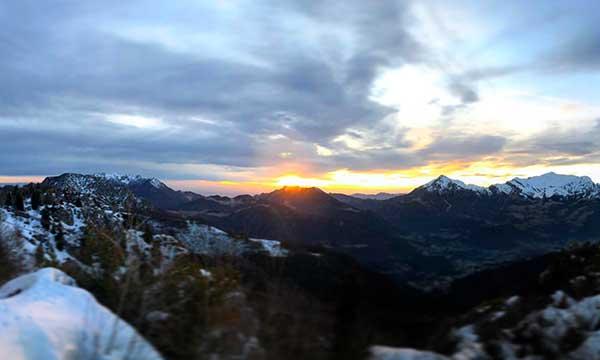 piani di bobbio tramonto neve