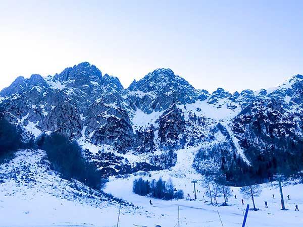montagne con neve