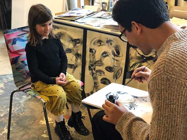 ritratto pittore per bambina