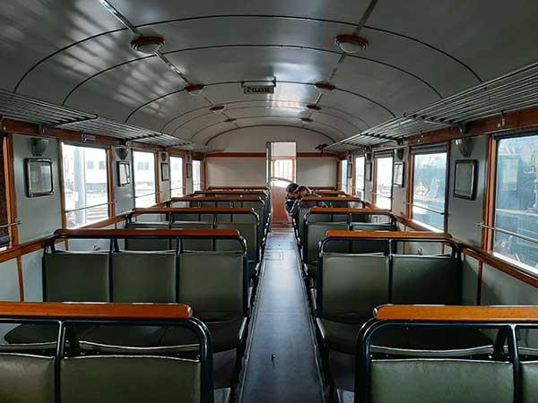 interno treno storico
