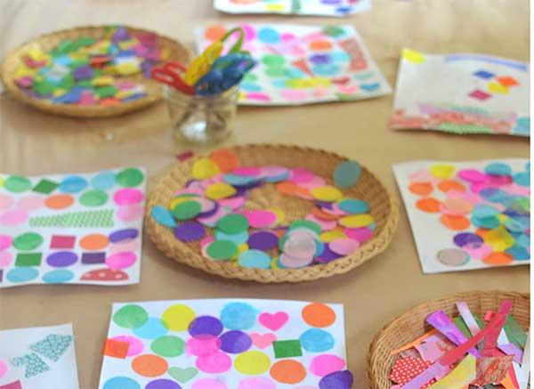 pezzettini carta colorata