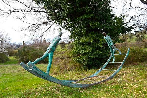 sculture nel parco grosseto