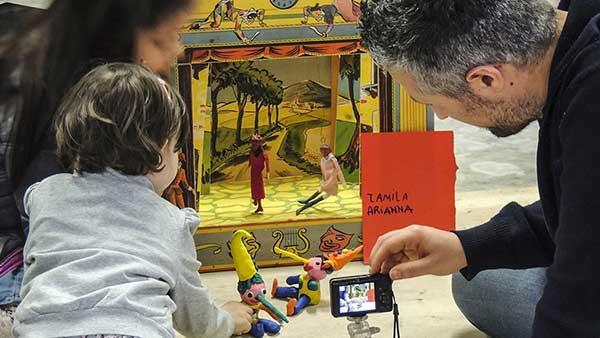 museo giocattolo Perugia papà e bambino