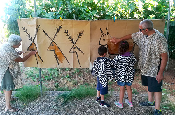 famiglia al museo della preistoria di lecce