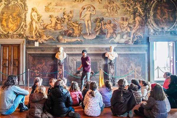 bambini al museo a Firenze palazzo vecchio