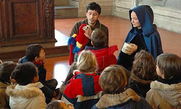 famiglia al museo Firenze