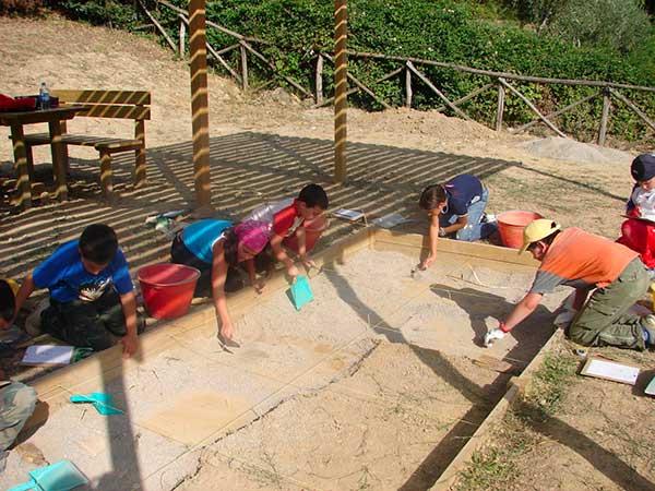 scavo archeologico bambini
