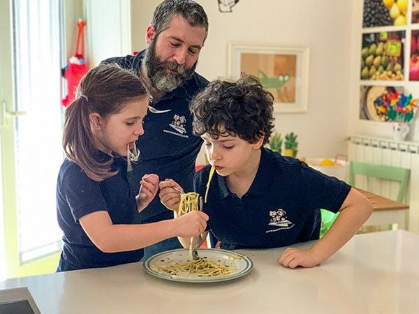La cucina di viaggiapiccoli spaghetti al limone