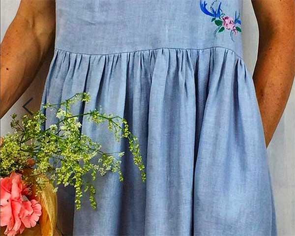 abito lino dettaglio