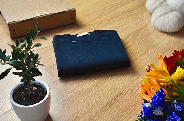 maglia lana blu