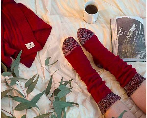 calzini e sciarpa lana