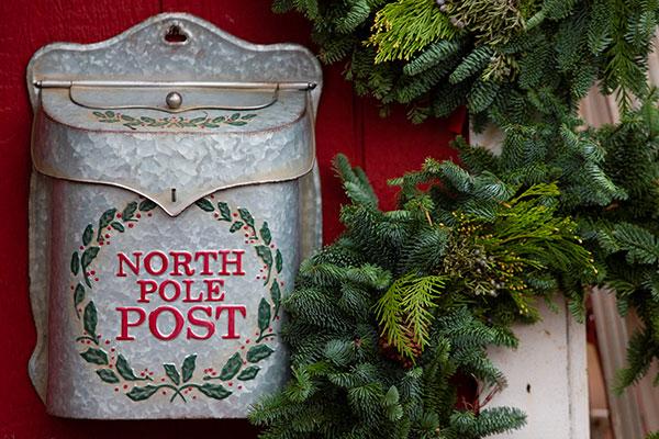 cassetta delle lettere di natale