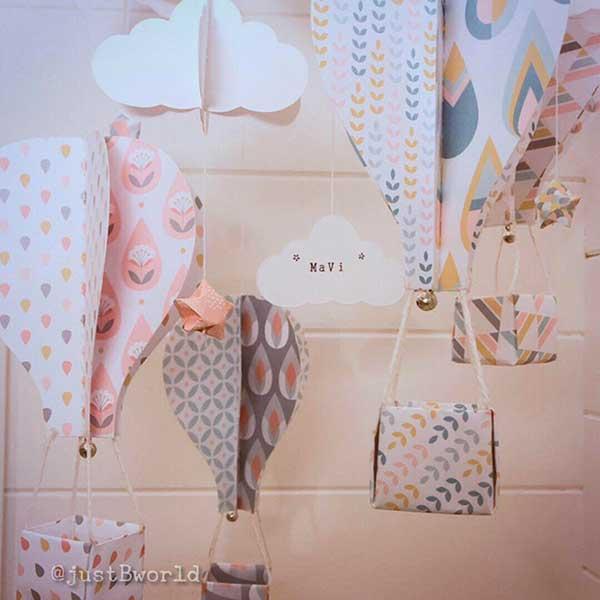 mongolfiere di carta