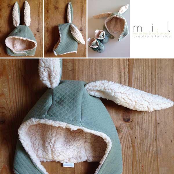 cappello coniglio bambino