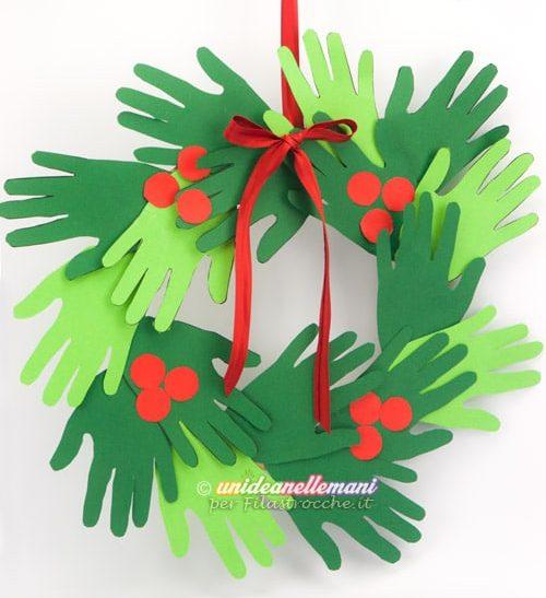 ghirlanda mani decorazione natalizia