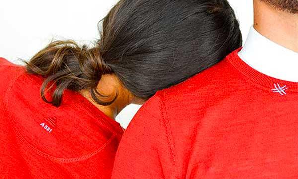 maglione uomo donna rosso