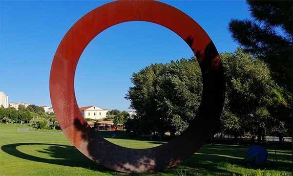 museo biodiversità catanzaro opera d'arte cerchio rosso
