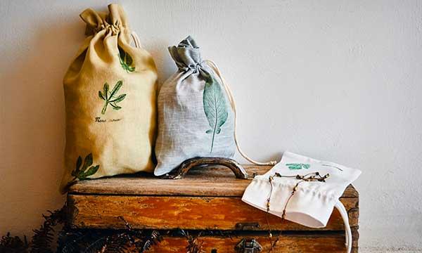 sacchi di tela dipinti a mano