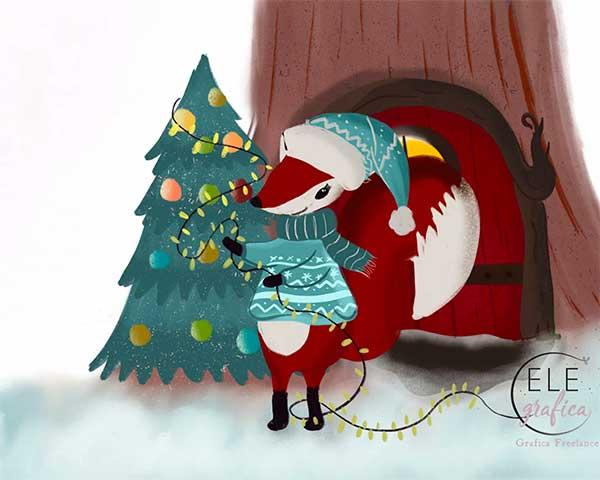 volpe di Natale