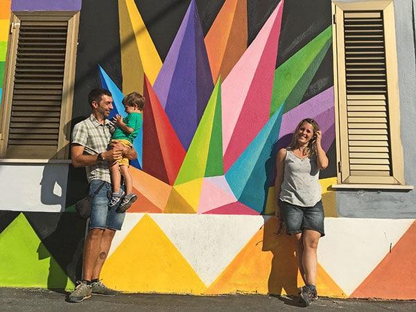 street art aielli famiglia