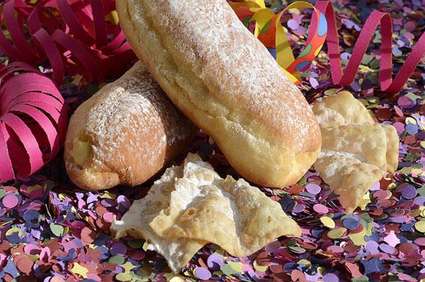 dolci di carnevale coriandoli